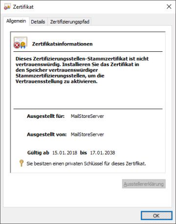 Verwendung eigener SSL Zertifikate – MailStore Server Hilfe