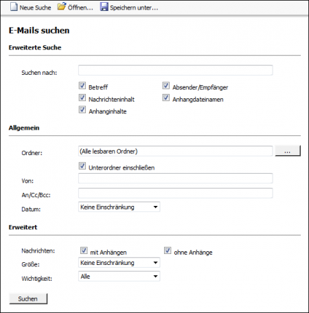 Zugriff über die Microsoft Outlook-Integration – MailStore Server Hilfe
