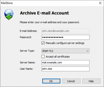 Archiving Email - MailStore Home Help