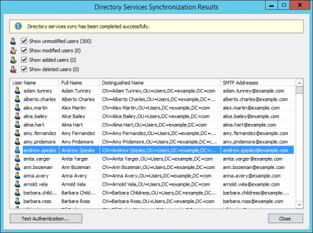 Synchronizing User Accounts with Active Directory - MailStore Server