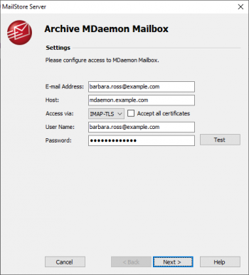 Archiving Emails from MDaemon - MailStore Server Help
