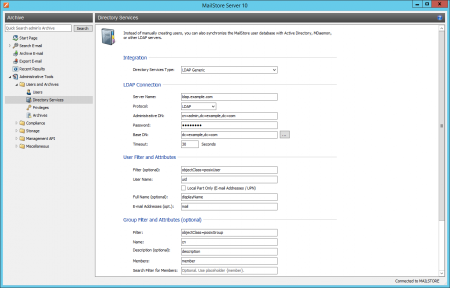 Generic LDAP Integration - MailStore Server Help