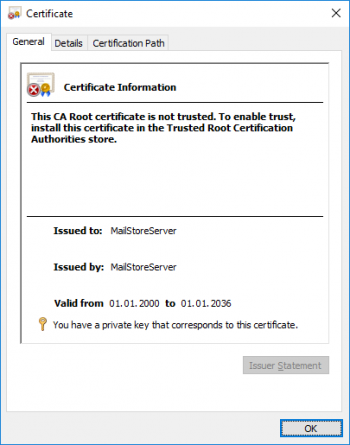 Deploying a Self-signed SSL Certificate - MailStore Server Help